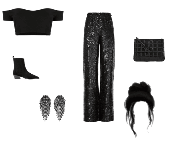 All- black Party look