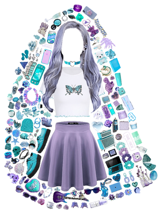 lavender + aqua