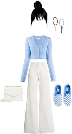 blue x white