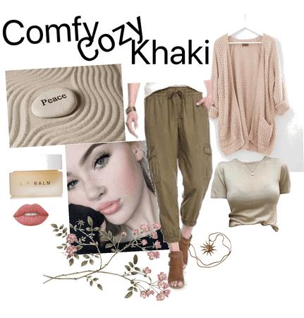 comfy cozy khaki