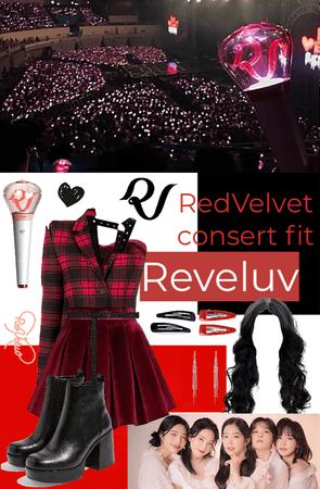 REDVELVET consert outfit, Reveluv