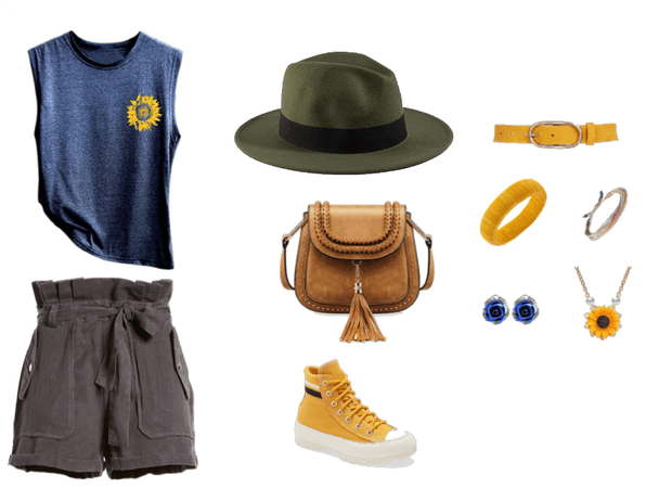 YELLOW/BLUE SUMMER OUTFIT