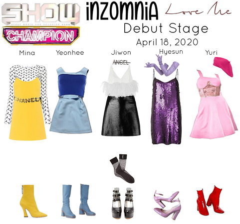 INZOMNIA 'Love Me' Debut Live Stage on Show Champion Outfits 04.20