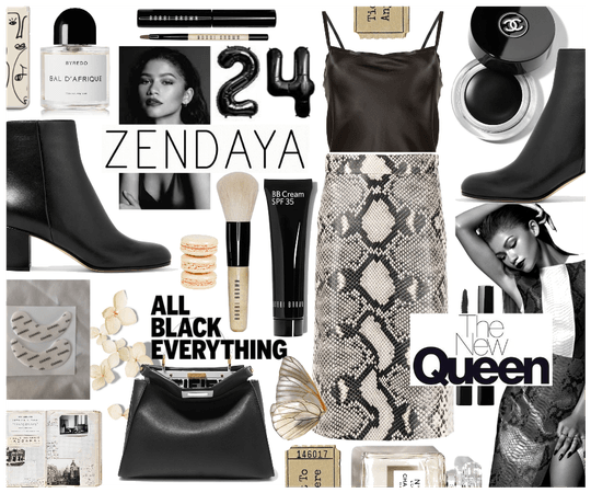 All Black Outfit: Zendaya