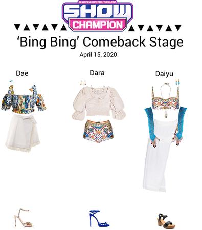 {3D}'Bing Bing' Show Champion Comeback Stage