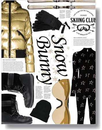 gold ski bunny 🖤