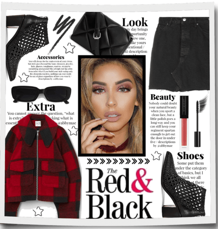 The red and black