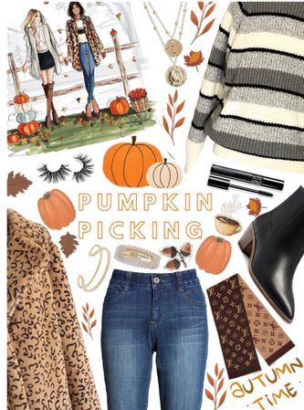 The style at the pumpkin patch