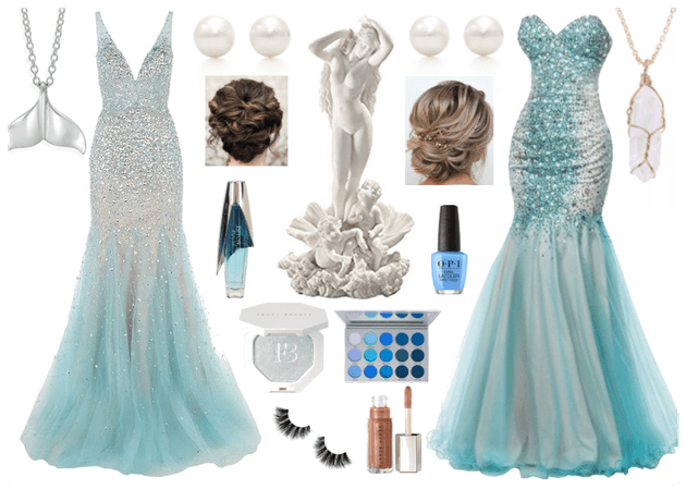 Blue Mermaid Gowns