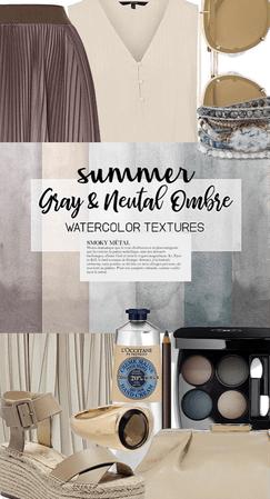 summer neutral ombré