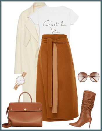 white / brown