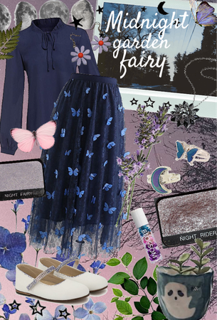 midnight garden fairy theme