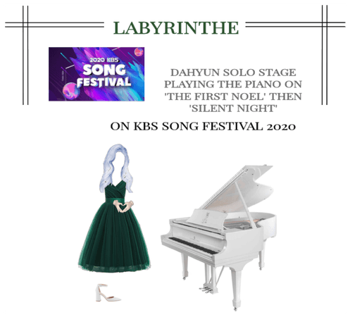 LABYRINTHE DAHYUN SOLO STAGE PLAYING THE PIANO