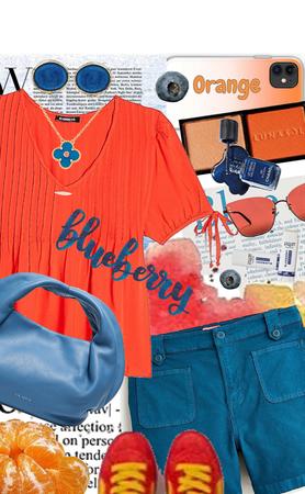 Blueberry and Orange!