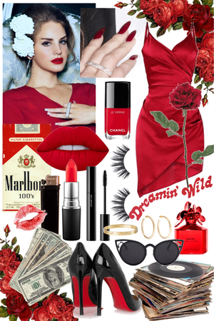 Lana Del Rey Red Look