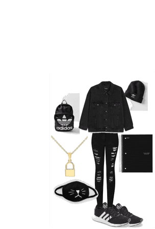 Black back to school out fit