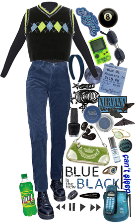 y2k black+blue