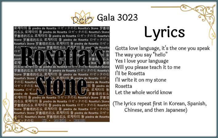 Dei5 Gala 3023 | Song: Rosetta's Stone