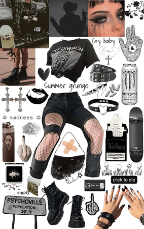 outfit grunge 🖤
