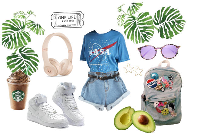 My favorite look with t-shirt NASA:)