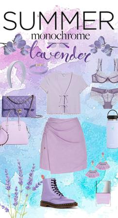 summer monochrome - lavender