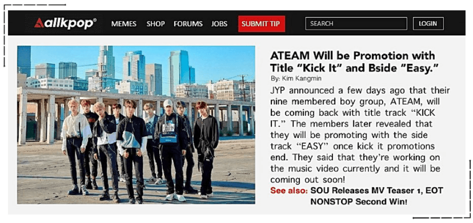 "AllKpop: ATeam ""Kick It"" Promotions"