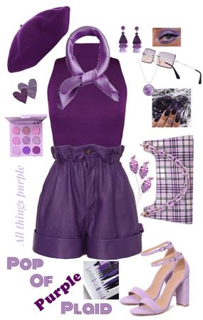 Pop of Purple Plaid