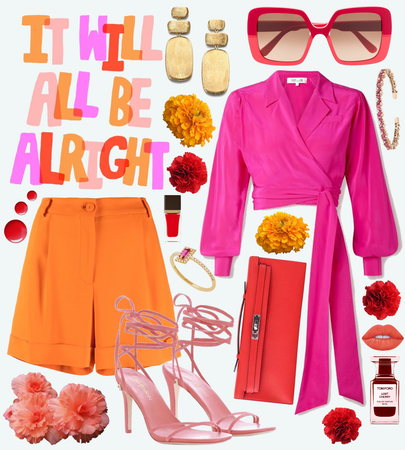 I Will All Be Alright - Red, Pink, & Orange