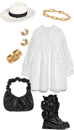 a simple white dress