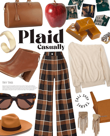 plaid casually