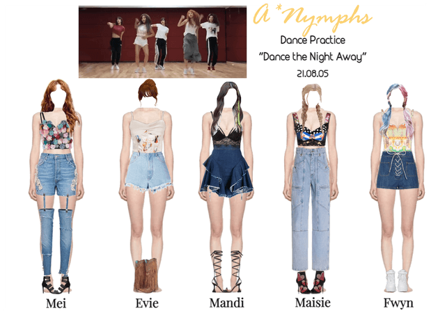"""A*Nymphs """"Dance the Night Away"""" Dance Practice"""