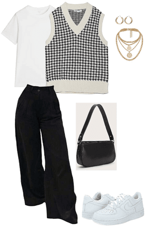 How to Style: Houndstooth Sweater Vest