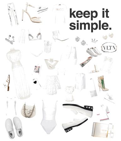 white all white