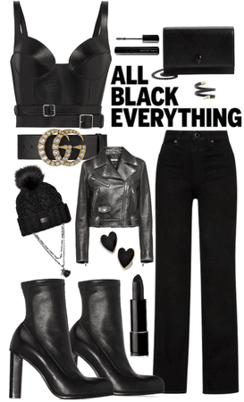 first date : all black everything