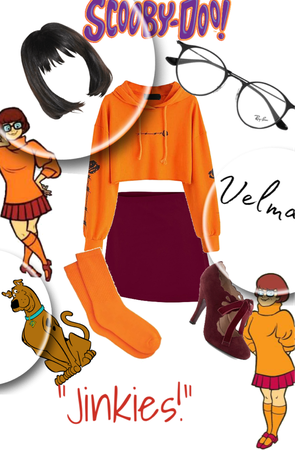 Jinkies! l An outfit that resembles Velma from Scooby Doo for a challenge!