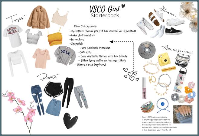 Vsco Girl Starterpack