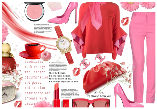 chic pink and red