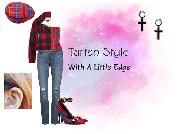 Soft Edgy Tartan Outfit
