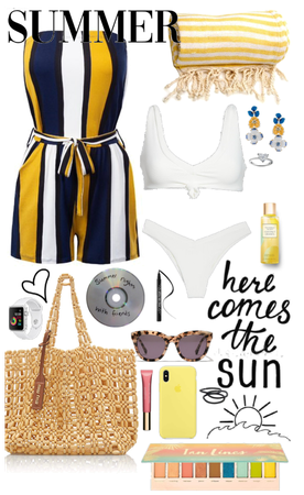 Yellow inspired beach outfit