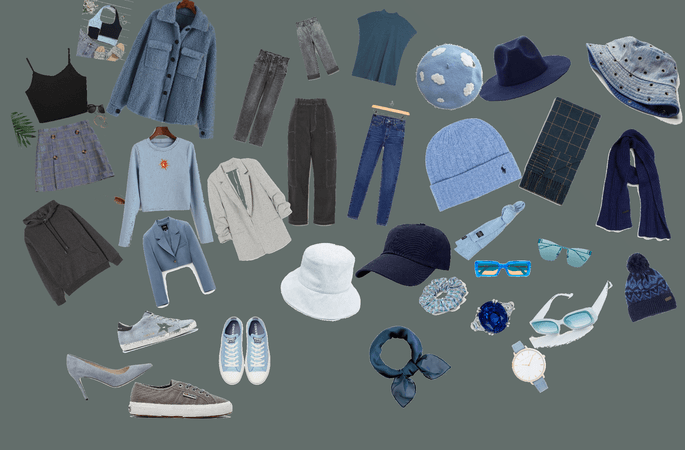 gray/blue outfit 💙🤍