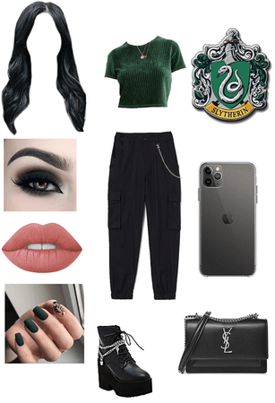 slytherin inspired outfit