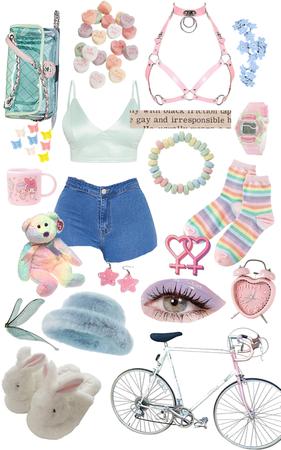 pastel outfit - candy bracelet