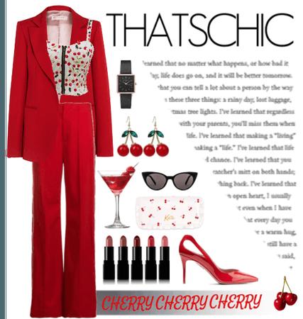 cherry blazer