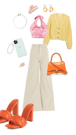 SPRING SUMMER 2021 orange/pink