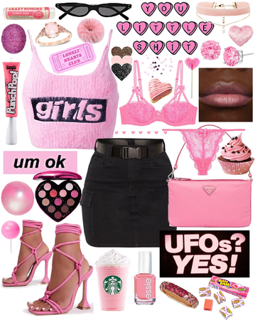 Bubblegum Pink and Black