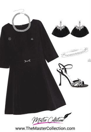 black dress bling