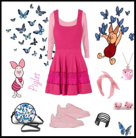 Piglet outfit - Disneybounding