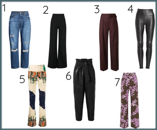 sete estilos universais /calças