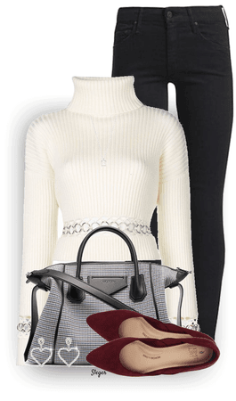 silver accent sweater