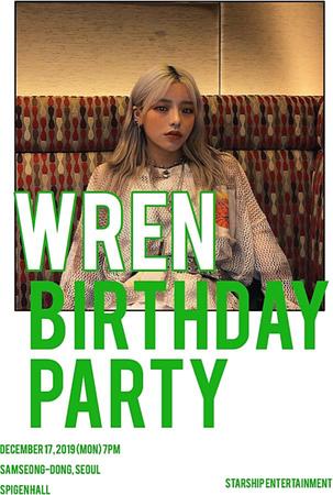 WREN BIRTHDAY PARTY FANSIGN